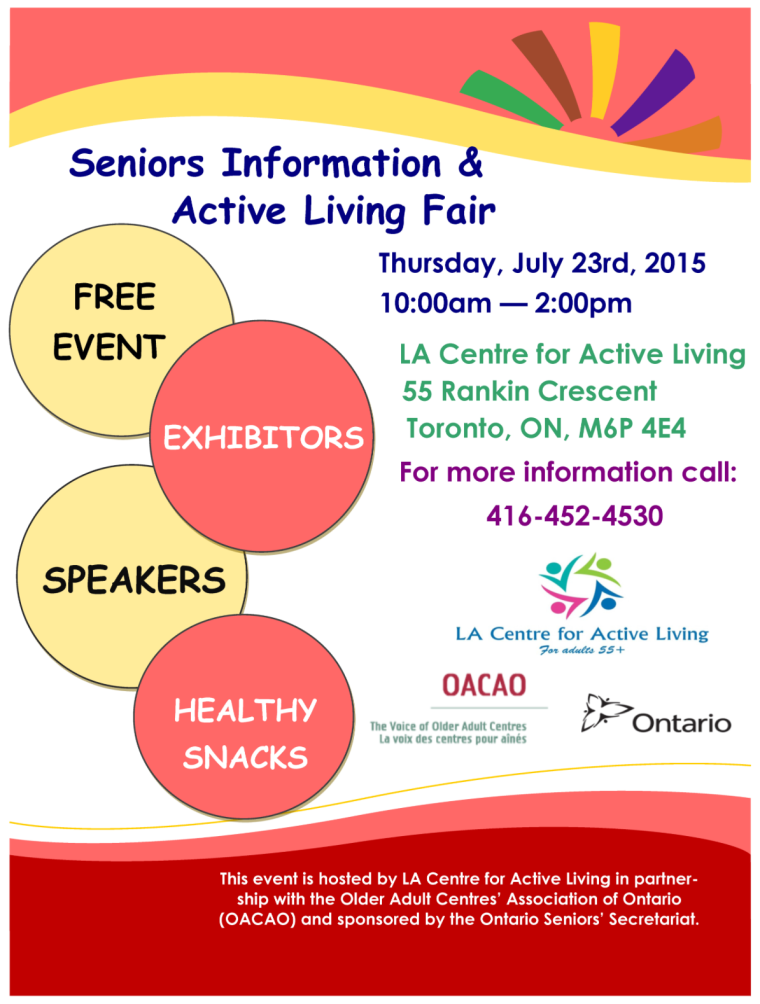 Seniors Information and Active Living Fair