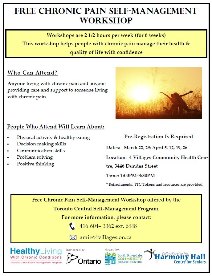 Chronic Pain Management Workshop