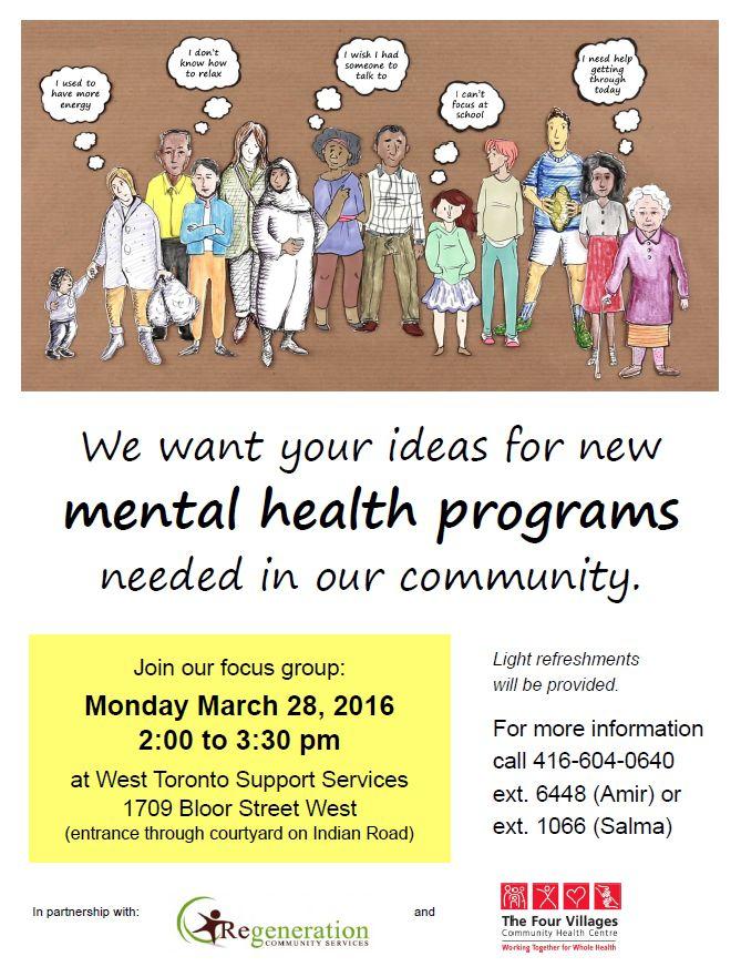 Mental health focus group