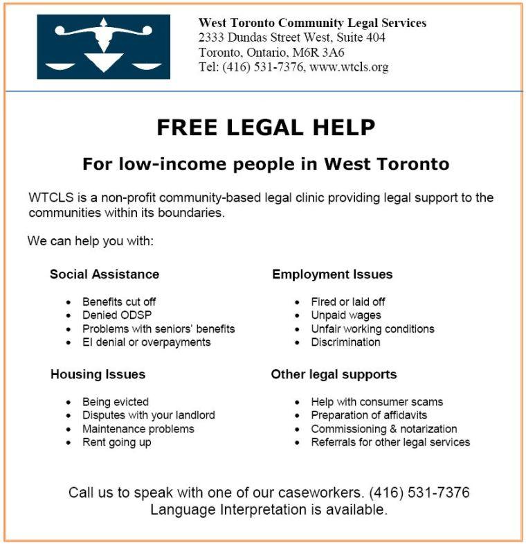 West Toronto Community Legal Services