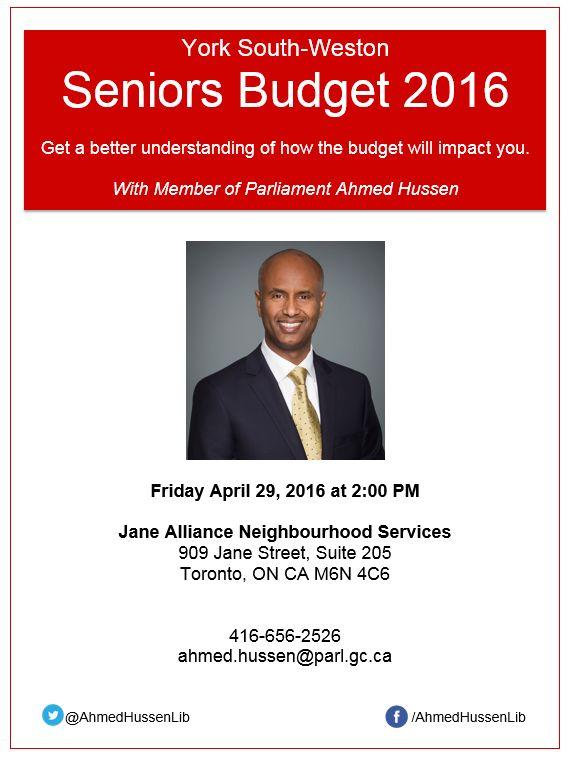 Seniors Budget 2016
