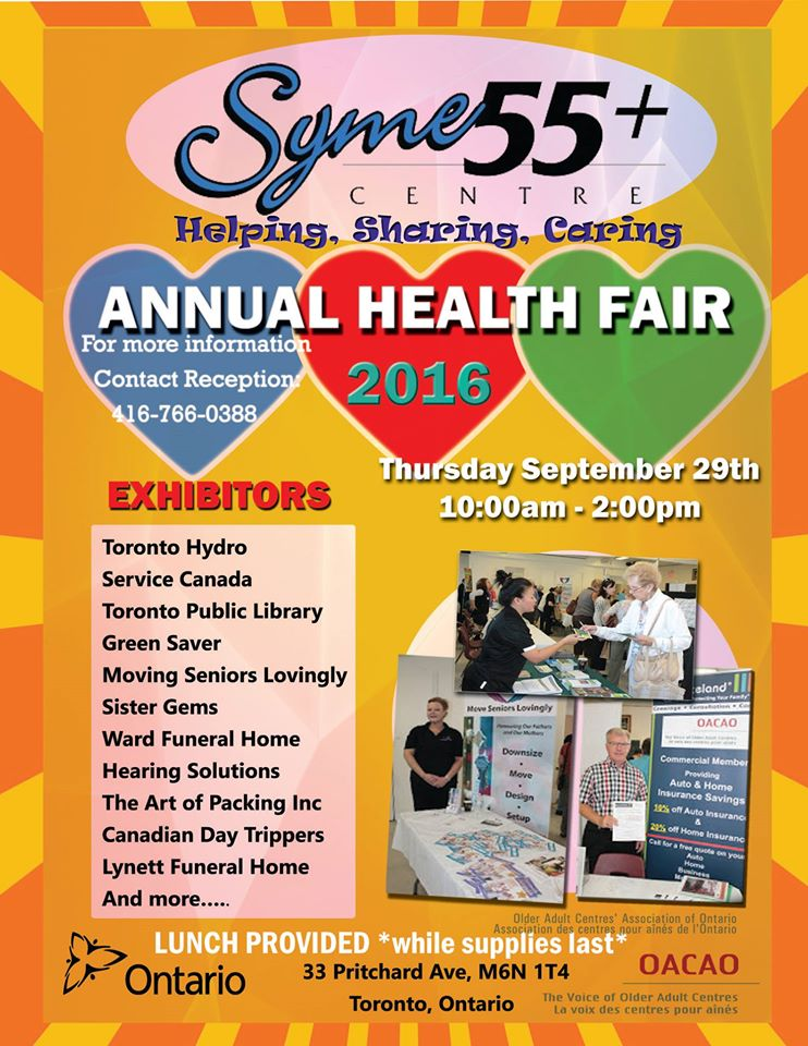 Syme55+ Health Fair