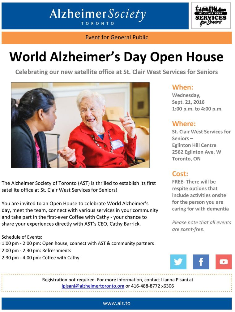 World Alzheimer's Day Open House