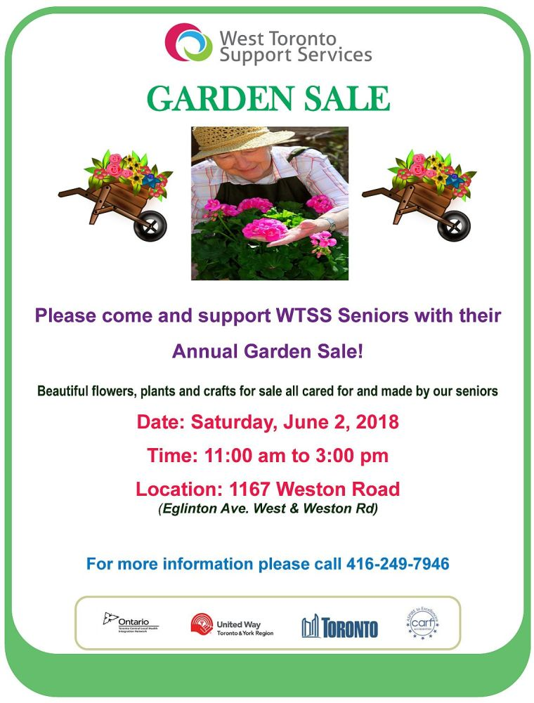 Annual Garden Sale flyer 2018